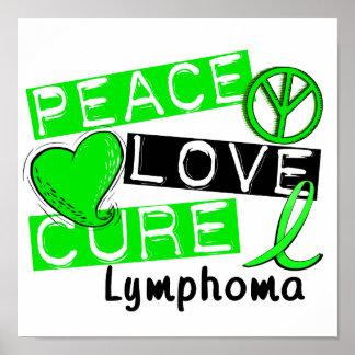 Linfoma de la curación del amor de la paz posters