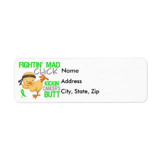 Linfoma de Non-Hodgkins del polluelo de Fightin Etiquetas De Remite