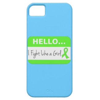 Linfoma de Non-Hodgkins que lucho como un chica iPhone 5 Case-Mate Cobertura