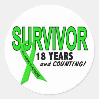 Linfoma de Non-Hodgkins superviviente de 18 años Etiquetas Redondas
