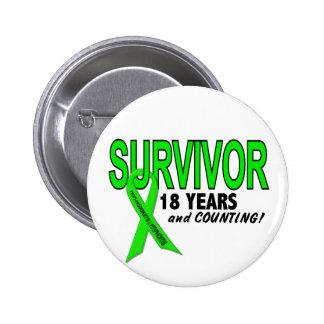 Linfoma de Non-Hodgkins superviviente de 18 años Pins
