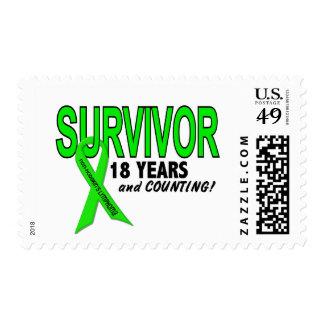Linfoma de Non-Hodgkins superviviente de 18 años Sellos