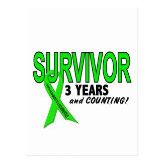 Linfoma de Non-Hodgkins superviviente de 3 años Tarjetas Postales