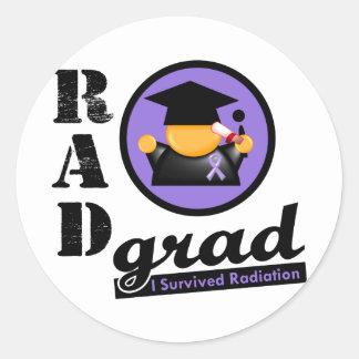 LINFOMA del graduado HODGKINS de la radiación Pegatina Redonda