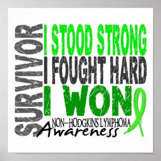 Linfoma del superviviente 4 Non-Hodgkin Poster