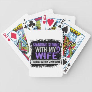 Linfoma fuerte derecho de Hodgkins de la esposa Baraja Cartas De Poker