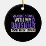 Linfoma fuerte derecho de Hodgkins de la hija Ornamento De Navidad