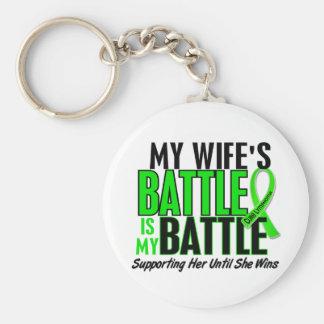 Linfoma mi batalla demasiado 1 esposa llavero redondo tipo pin