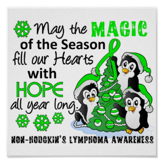 Linfoma Non-Hodgkin de los pingüinos del navidad Impresiones