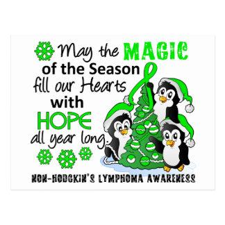 Linfoma Non-Hodgkin de los pingüinos del navidad Tarjeta Postal