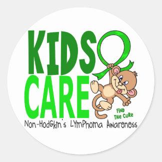 Linfoma Non-Hodgkin del cuidado 1 de los niños Pegatina Redonda