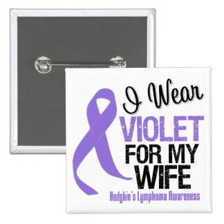 Linfoma violeta de Hodgkins de la cinta de la espo Pin Cuadrada 5 Cm