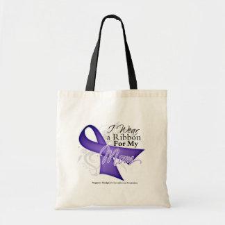 Linfoma violeta de Hodgkins de la cinta de la mamá Bolsas De Mano