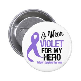 Linfoma violeta de Hodgkins de la cinta del héroe Pin Redondo 5 Cm