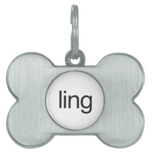 ling placas de nombre de mascota