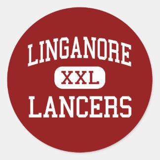 Linganore - lanceros - alto - Frederick Maryland Pegatina Redonda