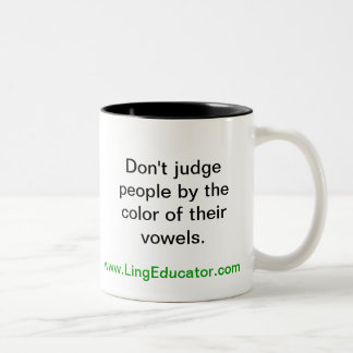 LingEduator Two-Tone Coffee Mug