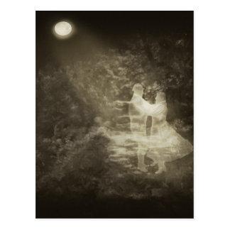 Linger in the Moonlight 1 Antiqued Postcard