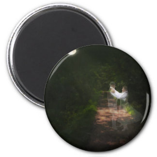 Linger in the Moonlight 1 2 Inch Round Magnet