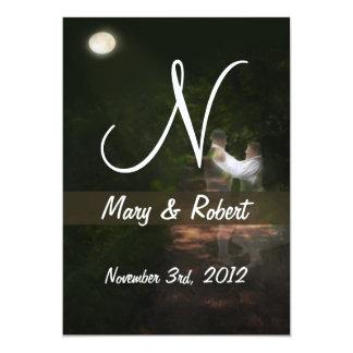 Linger in the Moonlight Monogram Card