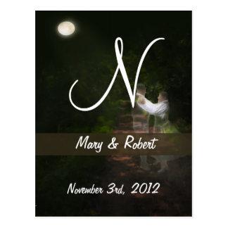 Linger in the Moonlight Monogram Post Cards