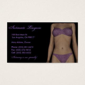 Lingerie B/P Business Card