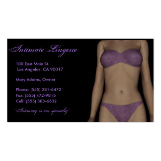 Lingerie B/P Business Card Templates