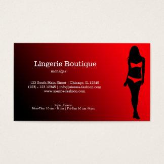 Lingerie Boutique Business Card