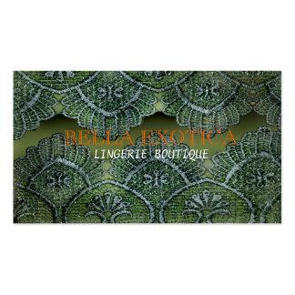 Lingerie Boutique Lace Business Card