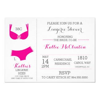 Lingerie Bridal Shower Bachelorette Invitations