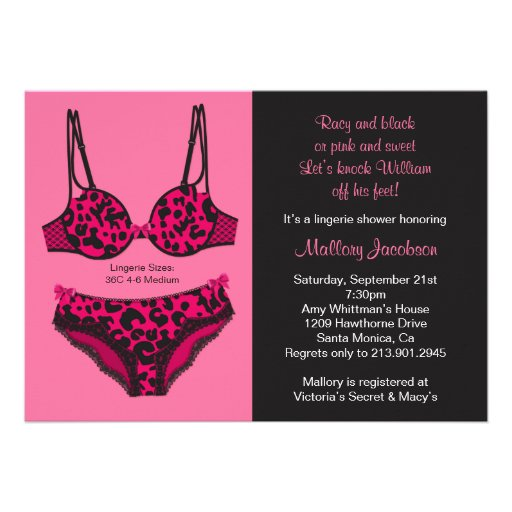 Lingerie Bridal Shower Invitations and get inspiration to create nice invitation ideas