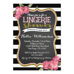 shower invitaions lingerie