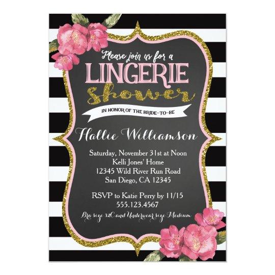 Lingerie Bridal Shower Invitation Zazzle Com