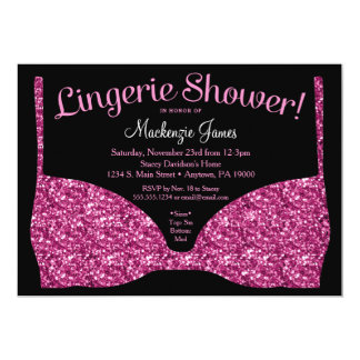 Lingerie Bridal Shower Invitation Pink Glam
