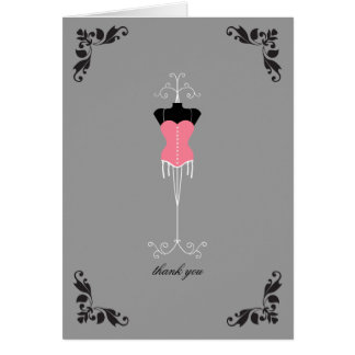 Lingerie Bridal Shower Thank You Notes Cards