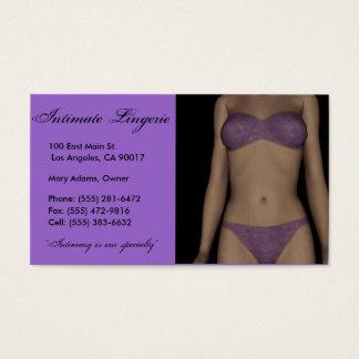 Lingerie Business Card