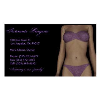 Lingerie Business Cards