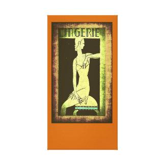 Lingerie (Framed) Canvas Print