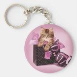 Lingerie Kitten Keychain