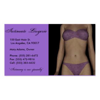 Lingerie P/B Business Card Templates