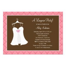Lingerie Party Bridal Shower Invitation