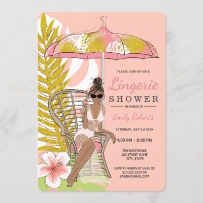 Lingerie Shower African American Bride Invitation