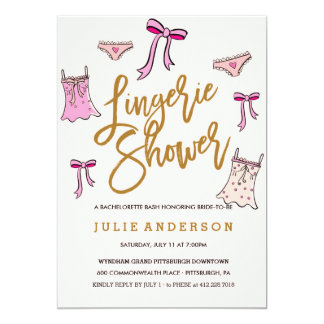 Lingerie Shower // BACHELORETTE PARTY invitation