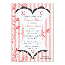 Lingerie Shower Bachelorette Party Invitations
