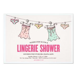 Lingerie Shower Bachelorette Party Wedding Shower 5x7 Paper Invitation Card