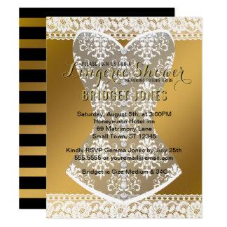 Lingerie Shower Bridal Bachelorette Party Gold Card