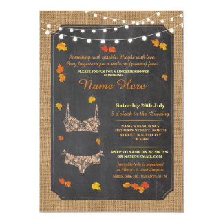Lingerie Shower Bridal Party Autumn Lace Invite