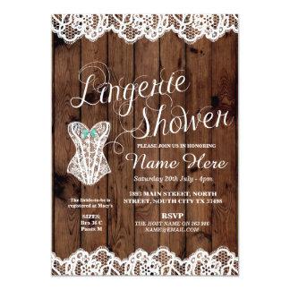 Lingerie Shower Bridal Party Corset Lace Invite