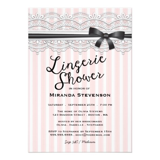 Personalized Lace bachelorette party Invitations