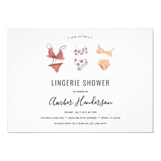 Lingerie Shower Invitation